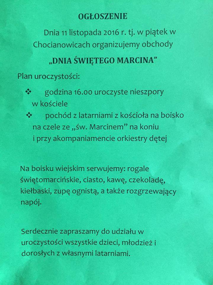 plakat sw Marcin 2016
