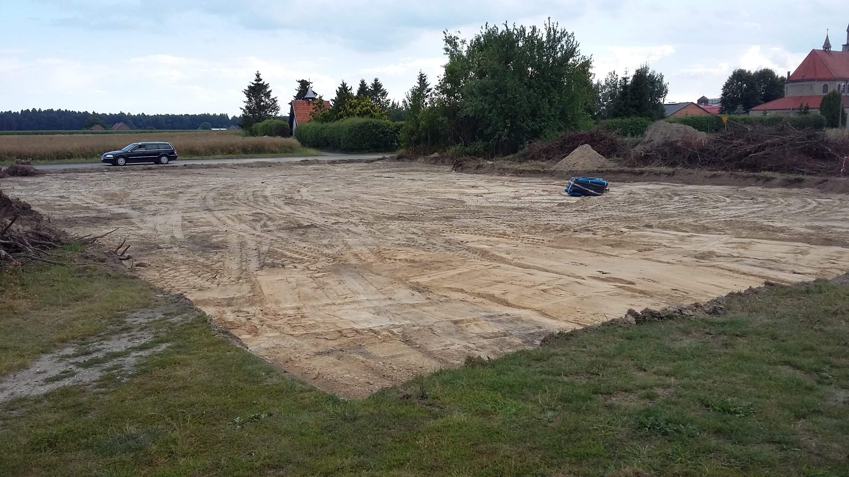 Budowa boiska sportowego – lipiec 2018